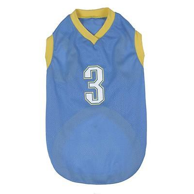 CASUAL Canine ALL-STAR DOG BASKETBALL JERSEY BLUE X-SMALL