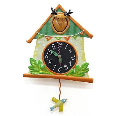 [HUGDESIGN] BIRD HOUSE PENDULUM WALL CLOCK