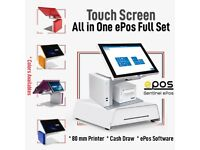 Touch Screen EPOS system,epos ,Retail pos.All in One Set New.Epos for Food,Retail & Grocery POS