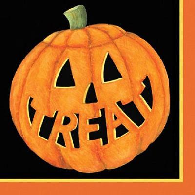 18+ Halloween Parties Ct (Halloween Pumpkin Smiles Paper Dessert Beverage Napkins 18)