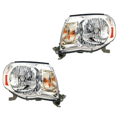 Fits 2005-2011 Toyota Tacoma Driver + Passenger Headlight Lamp Assembly 1 Pair