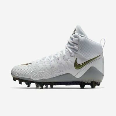 787d1a5f2ace New Nike Force Savage Pro TD Football Lacrosse Cleats Size 14 White Chrome