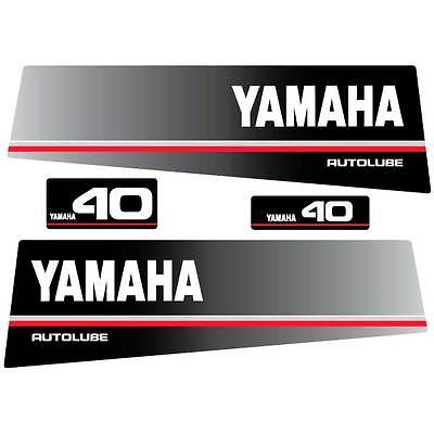 Yamaha 40 (1991) autolube outboard decal aufkleber sticker set, used for sale  Shipping to South Africa