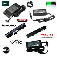 Chargeurs pour Laptop Dell, HP, Lenovo, Toshiba, Acer, MacBook
