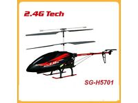 Heliking SG-H5701 3CH with locked gyroscope Remote Controlled Helicopter and Spares,boxes