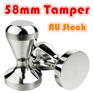 Coffee Tamper 58mm 650g Stainless Steel Polished Tampa Tamp Espresso ...