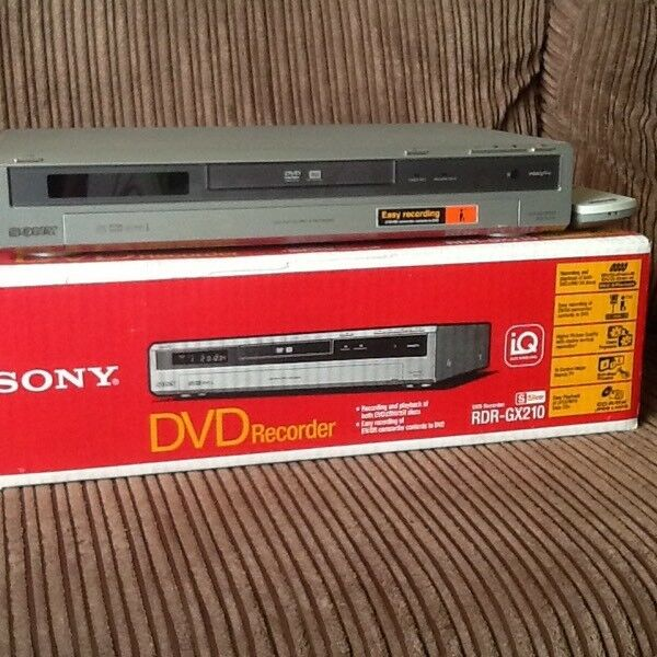 Sony DVD player/recorder and Panasonic vhs player/recorder
