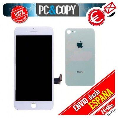 Pantalla LCD + Tapa trasera bateria iPhone 8 de 4,7 Blanca Calidad...