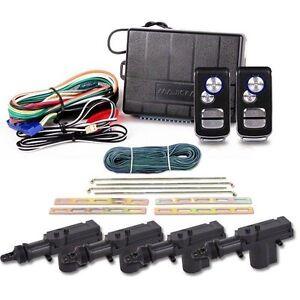 Keyless Entry Remote Central Locking Car Alarm Kit w/ Immobilizer