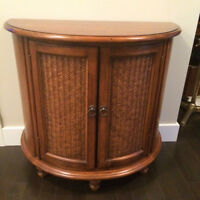 Bow-front British Colonial Cabinet