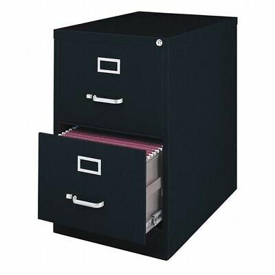 Hirsh 14419 26.5 Deep Vertical Legal Size 2 Drawer File Cabinet Black