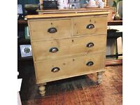 Beautiful antique Victorian pine drawers SOLD