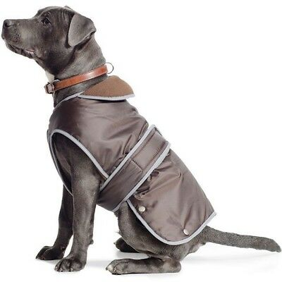 Ancol Stormguard Chocolate Brown Waterproof Fleece Dog Coat XS SMALL MED LGE XXL 9