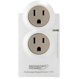 Monster Flatscreen Powerprotect 200 2-Outlet Surge Protector