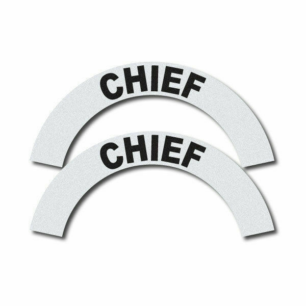 3M Reflective Fire/Rescue/EMS Helmet Crescents Decal set - Chief