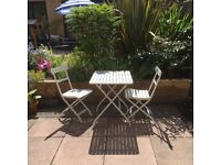 Garden chairs and table (folding)