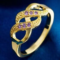 Two Path Design Purple Ring - Size 8