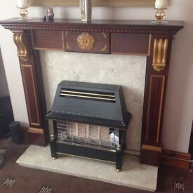 Marble back & hearth