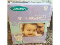 10 breast milk storage bags