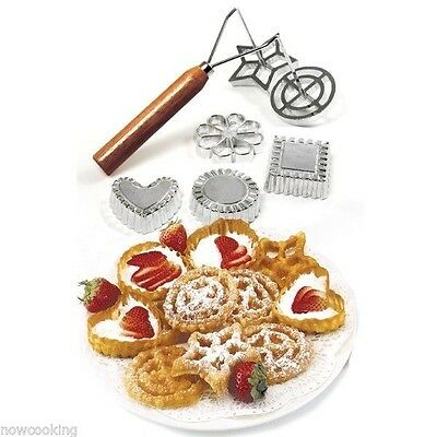 Norpro Swedish Rosette & Timbale 7 Piece Mold Set Crisp Cookie Pastry 3286