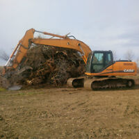 Excavation, Land clearing and logging services