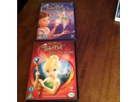 DISNEY TINKERBELL, SET OF TWO DVD'S