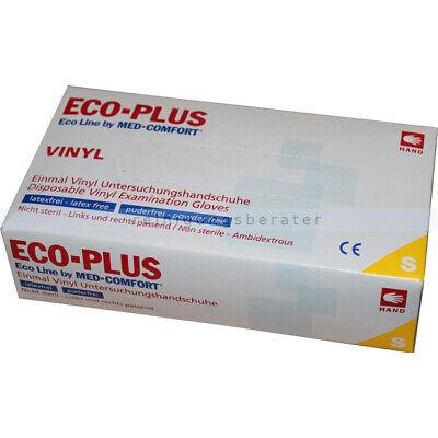 Einmalhandschuhe aus Vinyl Ampri Eco-Plus weiß S Einweghandschuhe