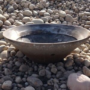 Crusher cones fire pits