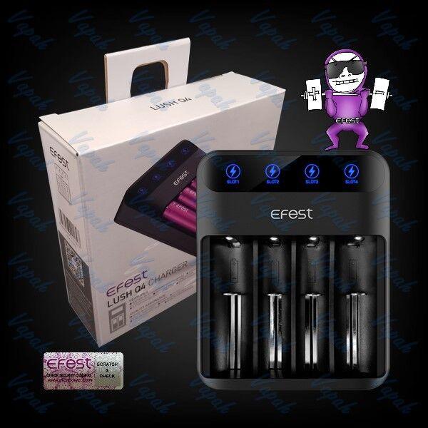 Efest Lush Q4 LED Lithium Ion Vape Battery Charger 20700 26650 18650 16340 14500
