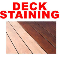 DECK STAINING SERVICE