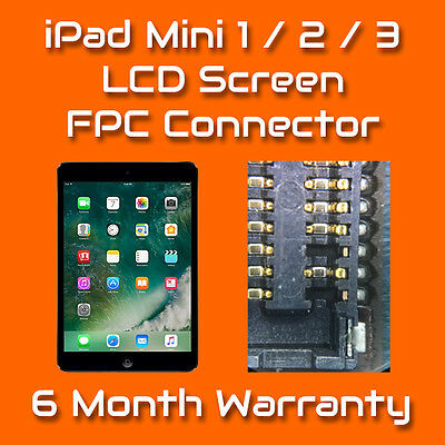 Apple iPad Mini 1 2 3 LCD Cover FPC Connector Repair Replacement Service