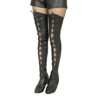Women's Leatherette Lace-Up Thigh High Boot - Thigh High Boot Kostüm