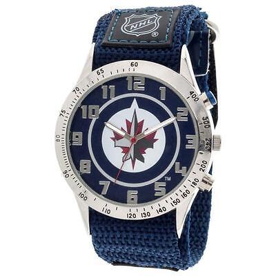 NHL Winnipeg Jets Fastwrap Watch Adult Men's Blue Apparel (Mens Watches Winnipeg)