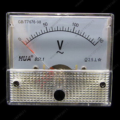 Ac 150v Analog Voltmeter Panel Pointer Volt Voltage Meter Gauge 85l1 0-150v Ac