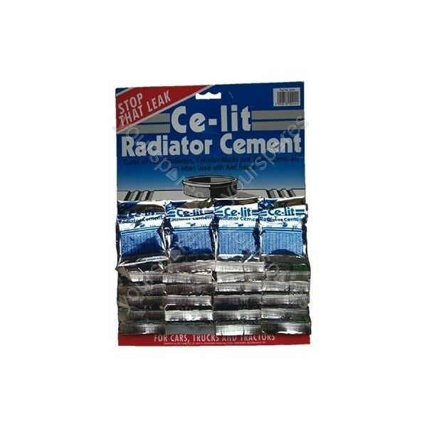 Ce-lit Radiator Cement Sachets - Display Card Of 24