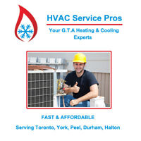 Air Conditioning & HVAC service, Low Fees, Same Day!
