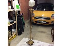 Converted standard brass oil lamp