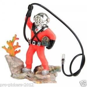 Aquarium diver ebay for Aquarium scuba diver decoration