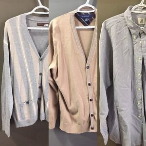 Lot of 3, 2 Cardigans & 1 Dress Shirt