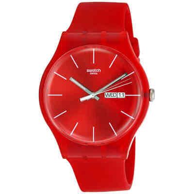 Swatch Originals Red Rebel Unisex Watch SUOR701