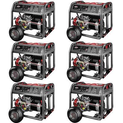Briggs & Stratton Pallet of 6 - 30663 - 7000 Watt Electric Start Portable Gen...