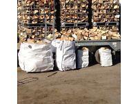 Dry seasoned firewood logs , sticks , kindling turf