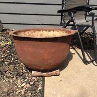 30 gallon cast kettle