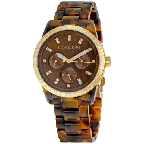 Michael Kors Jet Set Tortoise Shell Ladies Watch MK5038