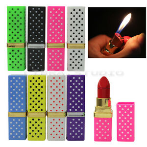 Fashion Cute Lipstick Shape Design Refillable Butane Gas Cigarette Lighter New