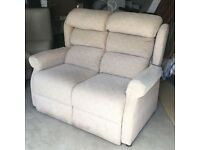 OAK TREE MOBILITY TWO SEATER SOFA - VERY LITTLE USE RRP £800