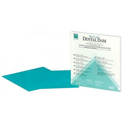 Coltene Hygenic Dental Dams Medium Green 5x5 52pcs Latex Or 15pcs Non-latex