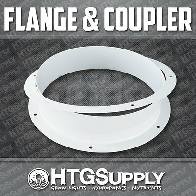 """8"""" VENTS Flange + Coupler for Hydroponics Grow Tent Exhaust"""