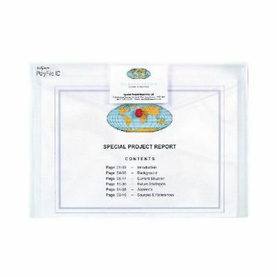 Snopake Polyfile ID Wallet A4 Transparent (Pack of 5) 12560 [SK02343]