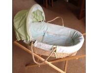 Moses basket and stand never used
